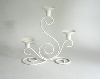 White Metal Candleholder