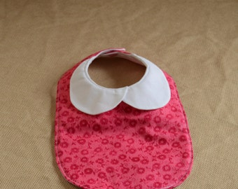 Baby Bib with Peter Pan Collar for a Lovely Baby Girl