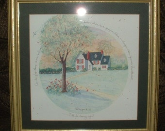 "ZERO SHIPPING! Matted & Framed D. Morgan Print ""I'll Be Loving You"" - 1991 - RARE"