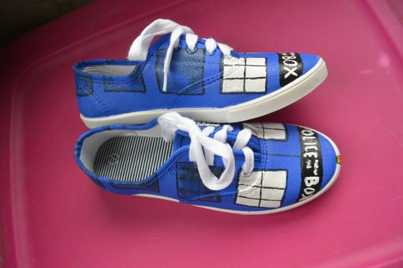 items similar to tardis shoes size made to order