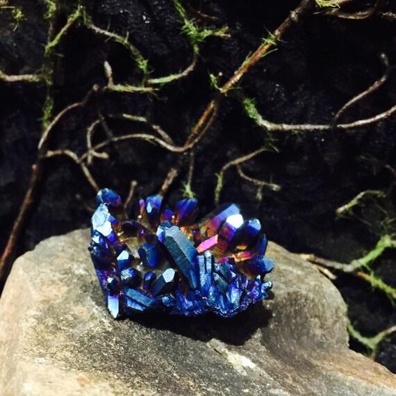Cobalt Metallic Blue Metallic Blue Aura Quartz