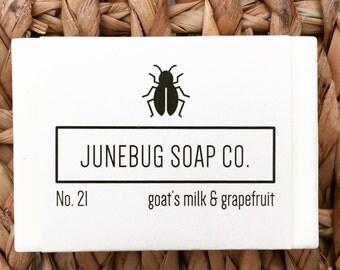 Goat's Milk & Grapefruit Bar Soap - Natural Soap, Goat's Milk Soap, Handmade Soap, Bar Soap, Goat Milk Soap, Homemade Soap, Grapefruit Soap