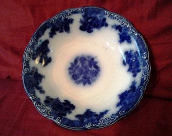 "Antique FLOW BLUE Plate - Waldorf Pattern 9"""