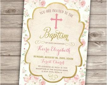 Baptism Printable Invitations NV893
