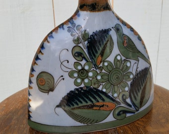 Vintage Ken Edwards Style Mexican Pottery Canteen Shaped Vase