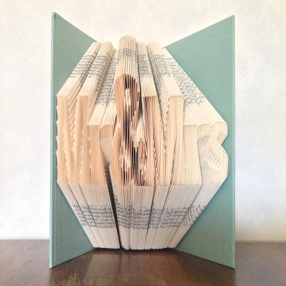 Mr & MrsWedding GiftFolded Book ArtBook SculpturePaper ...