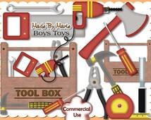 Mens Scrap Kits, Boy Scrap Kits, Tool Box, Designer Resources, Digital Elements, Commercial Use, Tool Box Clipart, Clipart, Mens Tools, DIY