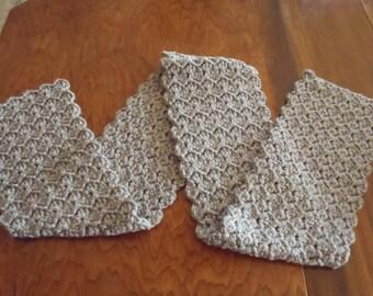 Crochet Grey Scarf