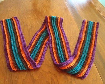 Hand Made Crochet Scarf - Multi Color