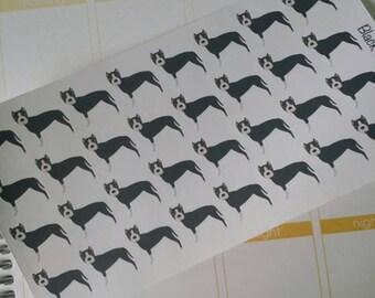 Black Pitbull (Pit Bull) Stickers! Dog Stickers! Perfect for your Erin Condren Life Planner, calendar, Paper Plum, Filofax!