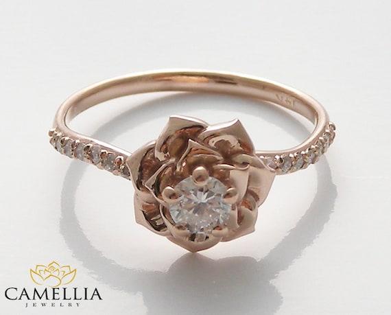 14k Rose Gold Diamond Engagement Ring By By Camelliajewelry. Emerald Stone Bracelet. Emerald Cut Diamond Eternity Band. Pink Bangle Bracelet. Mens Anklet. Teardrop Wedding Rings. Homemade Wedding Rings. Brown Diamond Wedding Rings. Original Rings