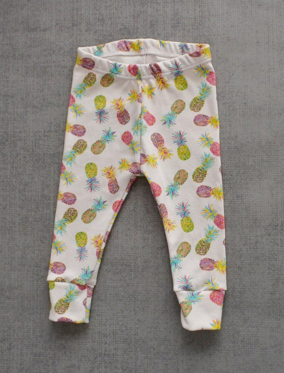 baby leggings, pineapple leggings, baby girl leggings, baby girl pants, baby girl