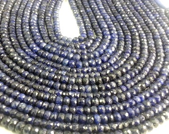4 - 5 mm Natural Dyed Sapphire Faceted Beads