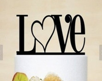 LOVE Arcylic Cake Topper Wedding Cake Topper