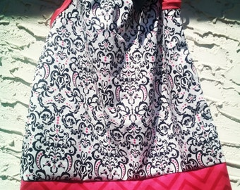 Damask and chevron Isabelle dress