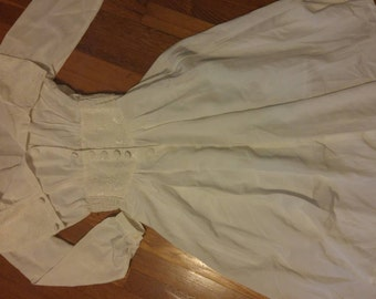 Vintage White Cinched Waist Dress