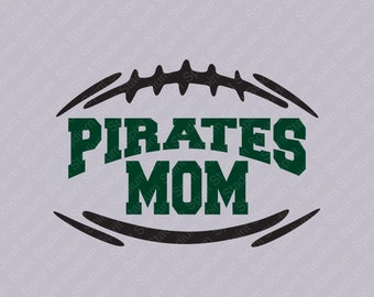 Football Mom Team Mascot Shirt - Personalized with Your School/Team Name & Your Choice of Colors, School Spirit Shirt