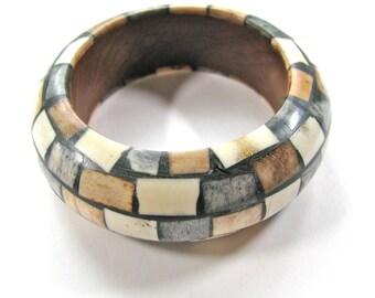 Bangle bracelet with mosaic patern - #B12