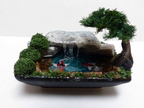 Artificial bonsai bonsai with koi pond bonsai koi for Artificial fish pond