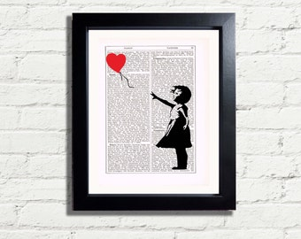 Banksy Art Little Girl and Balloon Print INSTANT DIGITAL DOWNLOAD A4 Printable Pdf Jpeg  Graffiti Wall Art Poster Print