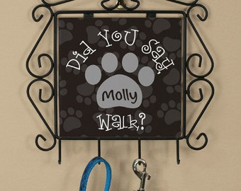 Personalized Pet Leash Hanger