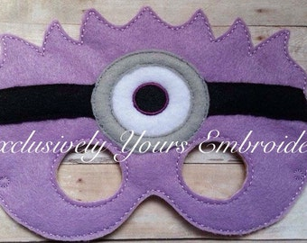 One Eye Purple Monster Children's Mask  - Costume - Theater - Dress Up - Halloween - Face Mask - Pretend Play - Party Favor