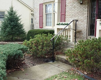 Hand Made Wrought Iron Arch4 Style Handrail for Steps- Easy DIY Installation