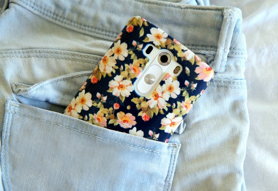 Floral LG G3 Case Floral LG G4 case navy Samsung Galaxy S6 Case floral Samsung S6 Edge Case trend Samsung Galaxy S5 Case Floral Note 4 case