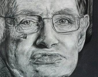 Stephen Hawking fine art print