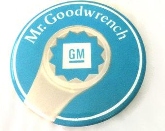 Vintage Mr. Goodwrench GM button Automotive memorabilia pinback General Motors advertising pin