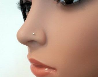 925 Sterling Silver Tiny  Nose Stud- Minimalist Nose Stud - Barely There Stud - Sterling Silver 2mm Ball- Nose Studs - 16-24 Gauge