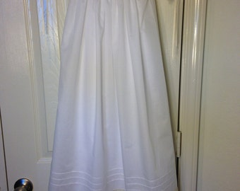 White and Ecru Lace Christening Gown