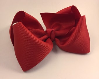 Red 5 inch hair bow