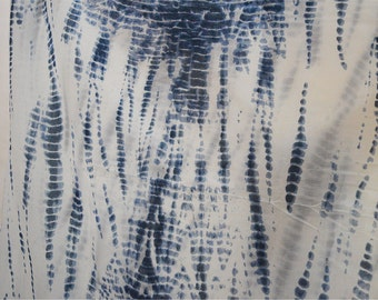 Printed Fabric Blue Screen printed Tie Dye Soft Cotton Fabric by yard, Indian Cotton Fabric, sewing material