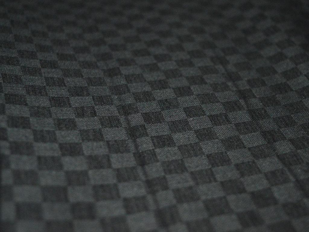 Black Soft Glazed Cotton Fabric Indian Fabric Black Checks