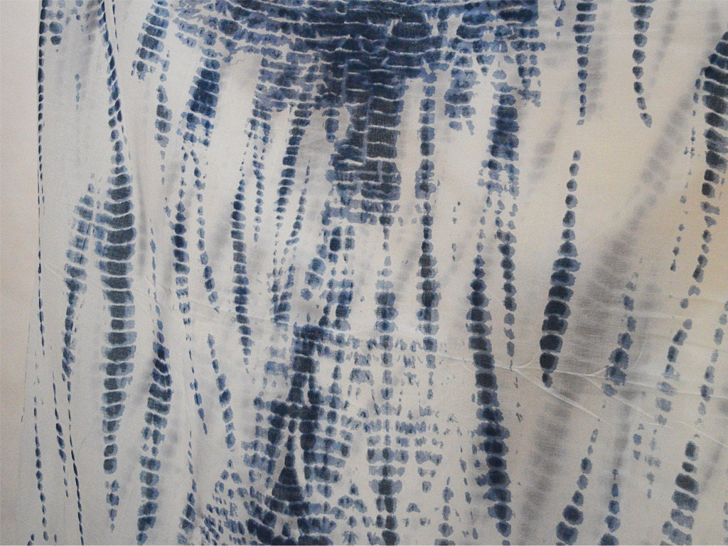 Printed fabric blue screen printed tie dye soft cotton fabric for Printed cotton fabric