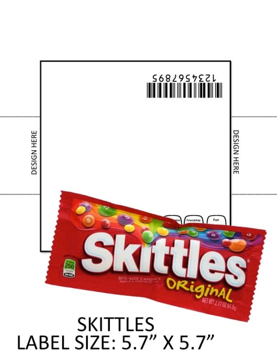 Skittles Template By Calecliparts On Etsy