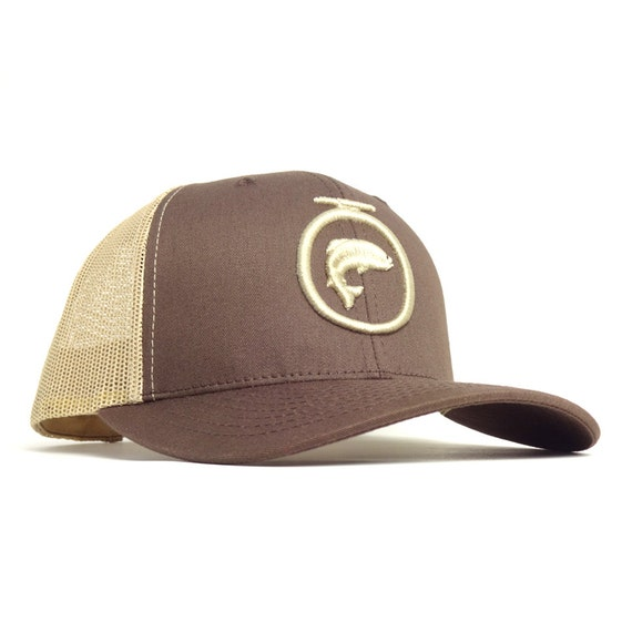 Items similar to fly fishing trucker hat fly fishing hats for Fly fishing cap