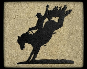 Bucking Bronco Metal Wall Art