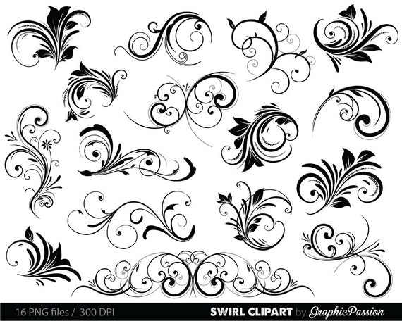 Swirls clipart digital swirls clip art vector swirls photoshop swirls clipart digital swirls clip art vector swirls photoshop brushes digital scrapbooking wedding invitations flourish floral silhouette stopboris Choice Image