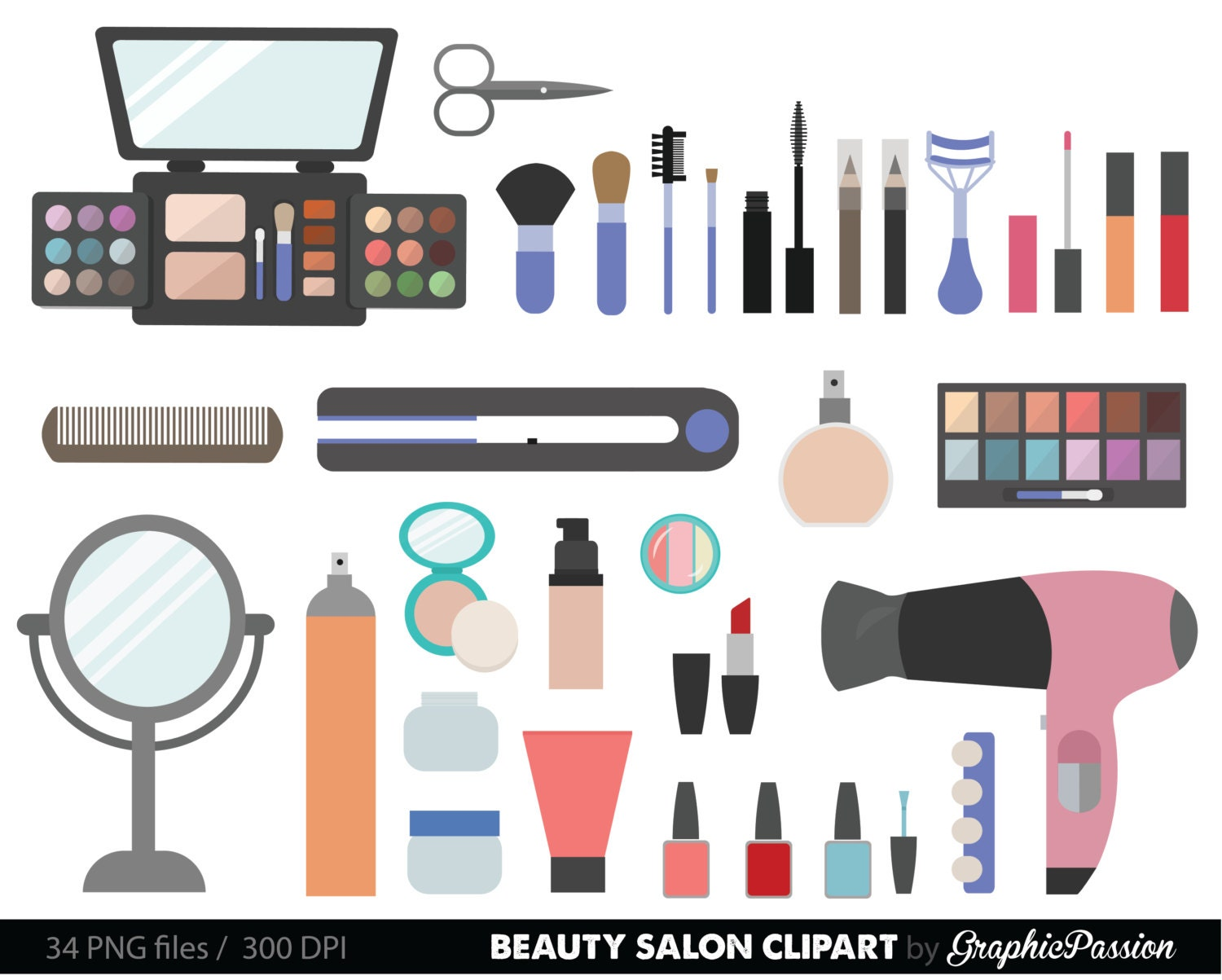 Clip Art Make Up Clip Art makeup clip art etsy beauty collection digital clipart cosmetic girly make up instant download