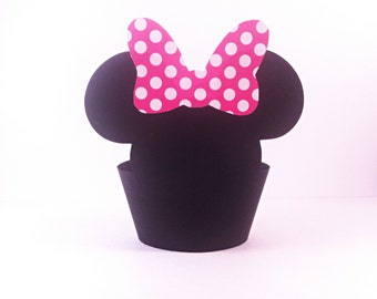 Minnie Mouse Cupcake Wrappers - party supplies - cake decorations - Disney - Mickey Mouse