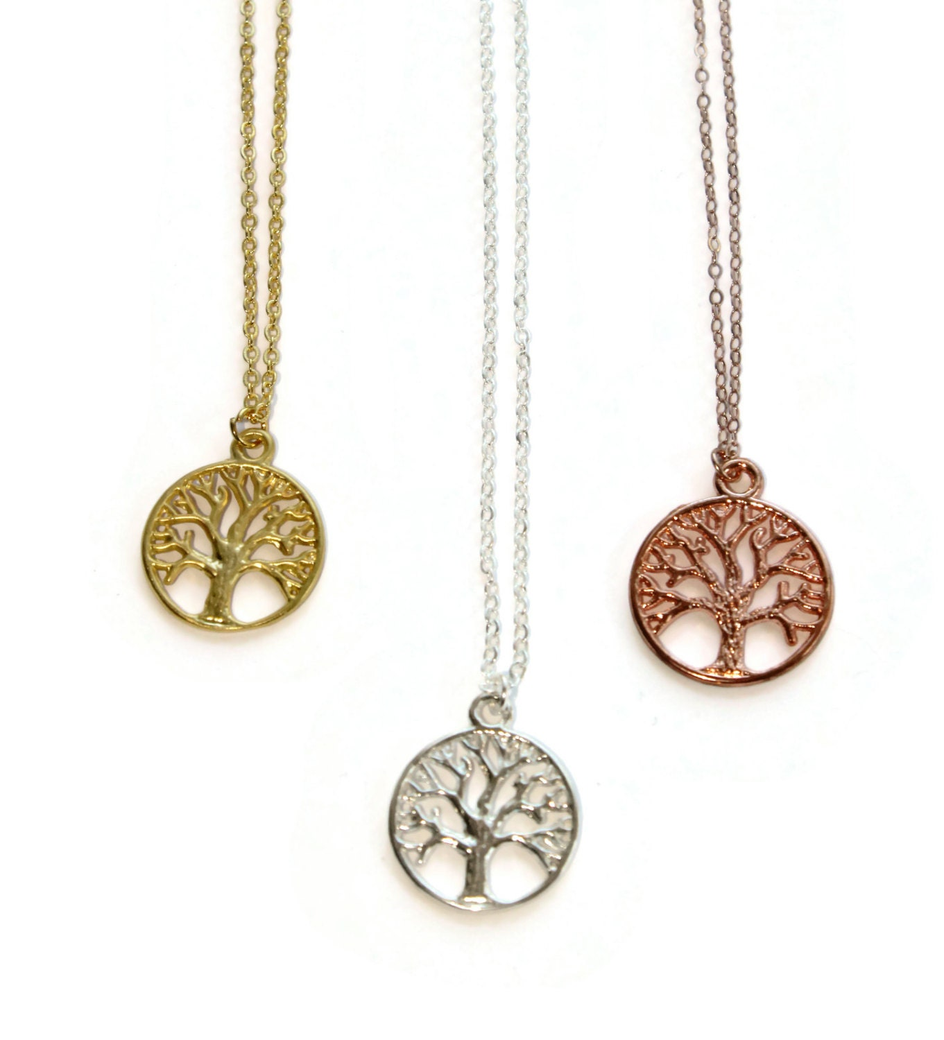Tree of Life Necklace in Gold, Silver, or Rose Gold ...