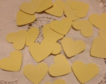 Large Lemon Yellow Heart Table Decoration, Event Confetti, Table Scatters, Baby Shower, Wedding Event