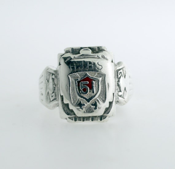 Items similar to Vintage Rogers AR High School Class Ring in Sterling Silver