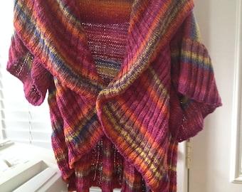 Multicolor 'Turtleback' Sweater