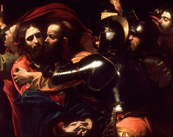 24x36 Poster; Taking of Christ by Caravaggio c.1602