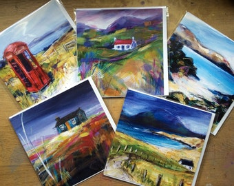 Isle of Lewis Card Collection - 5 designs in pack