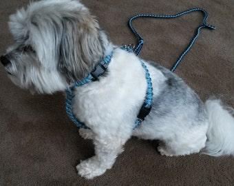 Dog harness, Custom made, Cobra Weave, Paracord 550
