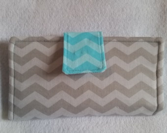 Aqua & Gray Prints Wallet